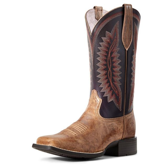 """Women's Quickdraw Legacy Western Boot $289.95  The Quickdraw Legacy is a legend in the making. Crafted from bold contrasting leathers with unique detailing, the ATS® footbed provides cushioned support for superior comfort and stability. •ATS® technology for stability and all-day comfort •Premium full-grain leather foot and upper •Leather lining •Traditional eight-row stitch pattern with heavy centre deco stitching •Duratread™ outsole •11"""" shaft; 1.5"""" heel  Don't forget about our awesome rewards program! For every $50 (before tax, on regular priced items) you spend you will receive a stamp. After 10 we reward you with a $50 rewards certificate!"""