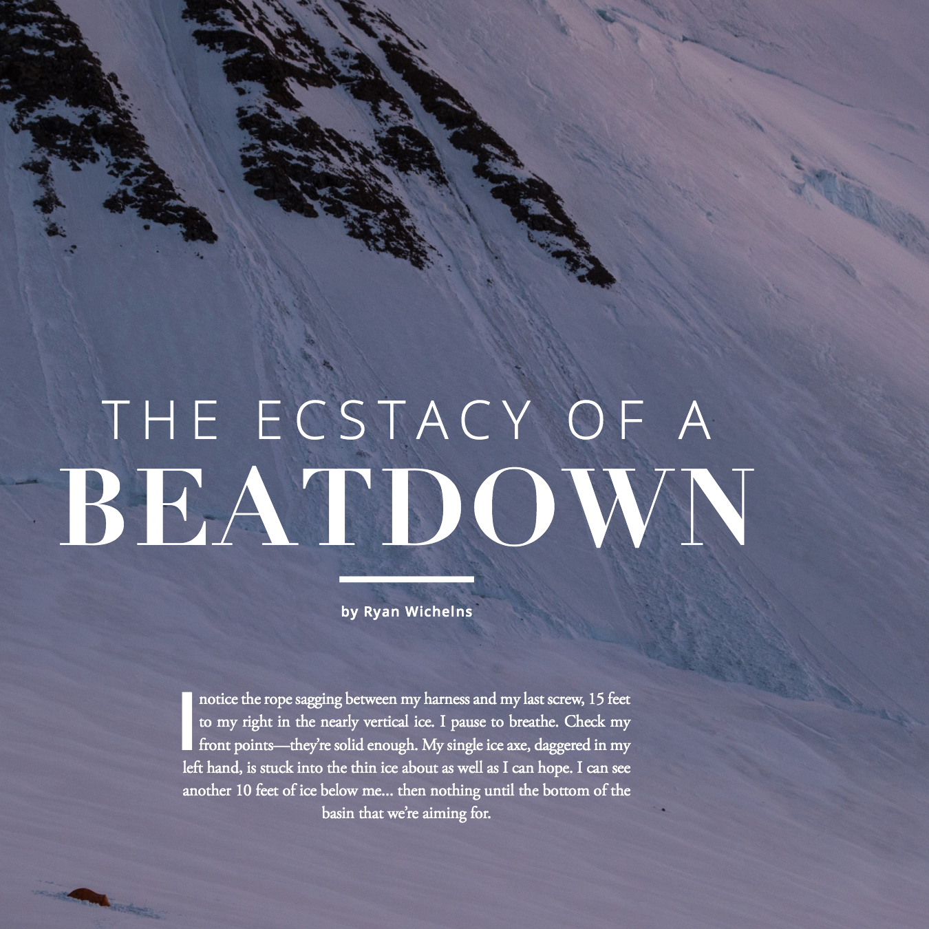 The Ecstasy of a Beatdown   American Alpine Club Guidebook to Membership — 2016