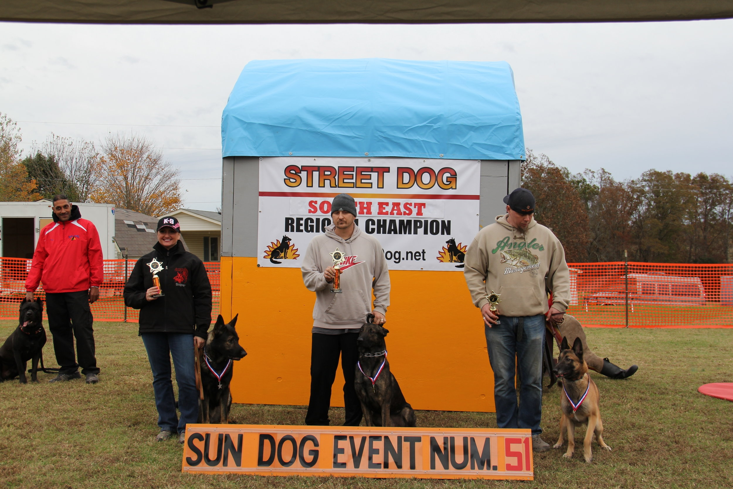 Eddie and Sniper with their 1st place win at the Regional Sun Dog event