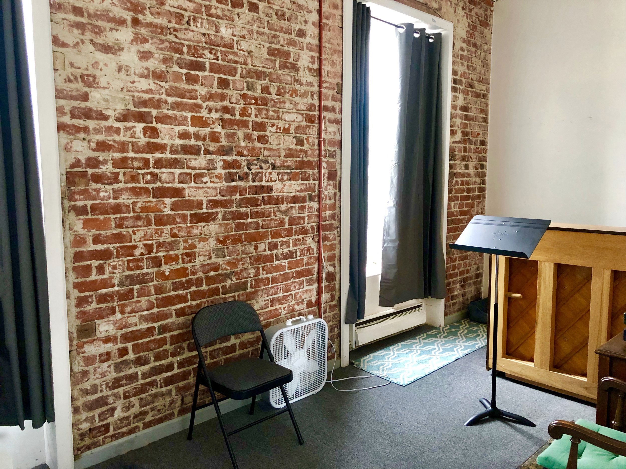 Studio 4 Uses: Lessons, practice, rehearsals for 3-5 people, meetings