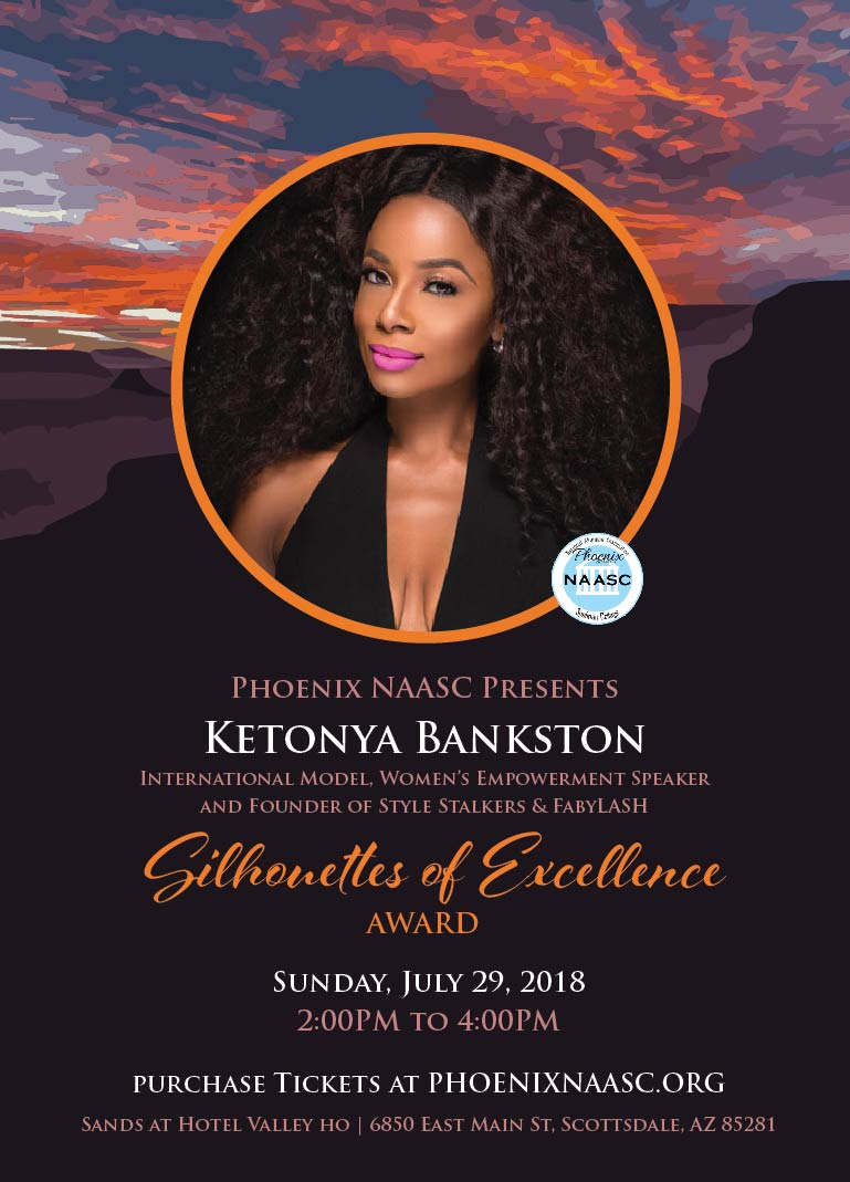 Ketonya Bankston  International Model, Women's Empowerment Speaker and Founder of Style Stalkers & FabyLASH.