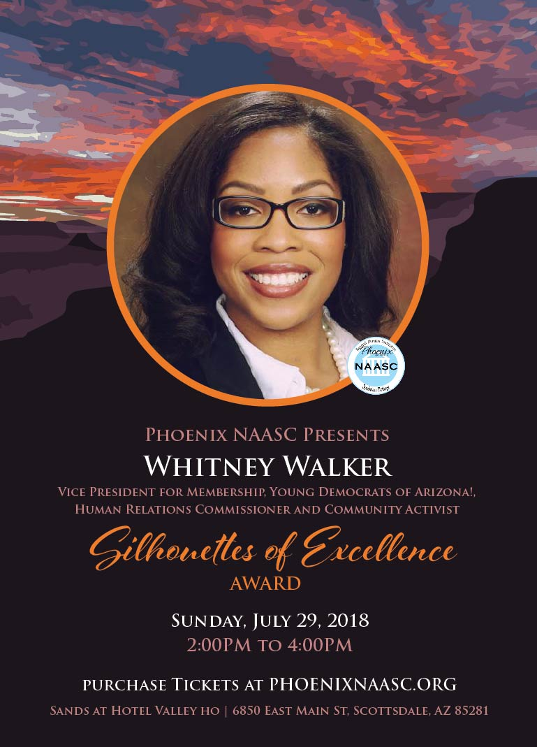 Whitney Walker  Vice President for Membership, Young Democrats of Arizona!, Human Relations Commissioner and Community Activist.