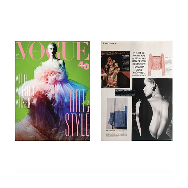 Happy Birthday & congrats to 40 years @voguegermany 💥 - so proud to see #agenthuirclient @larakrude is part of it. Check her amazing collection, & the brand new online shop. #devoted #saskiaibrom @fashioncouncilgermany