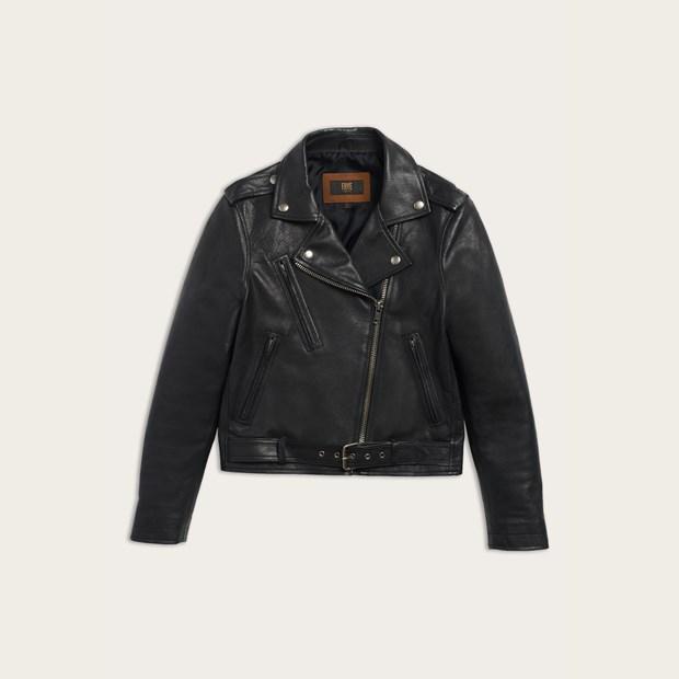 Frye Carly Leather Moto Jacket, $698