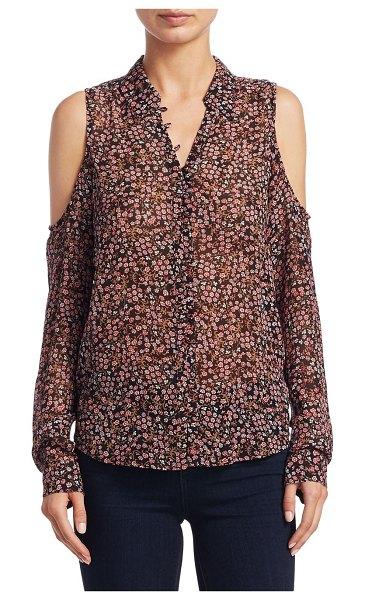 Paige Jeans Bellini Cold Shoulder Floral Silk Blouse, $238