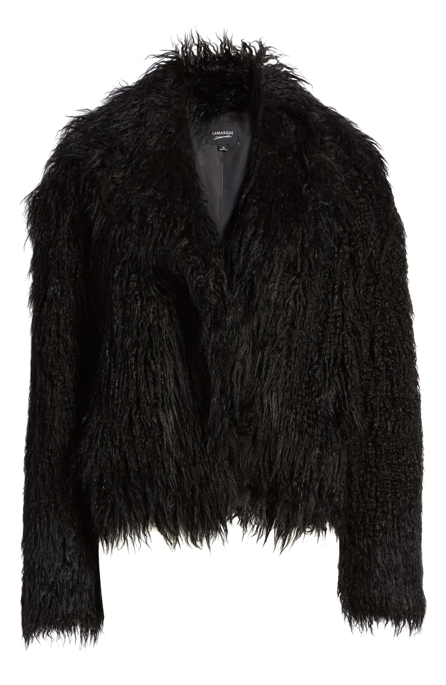 LAMARQUE Faux Fur Jacket, $395