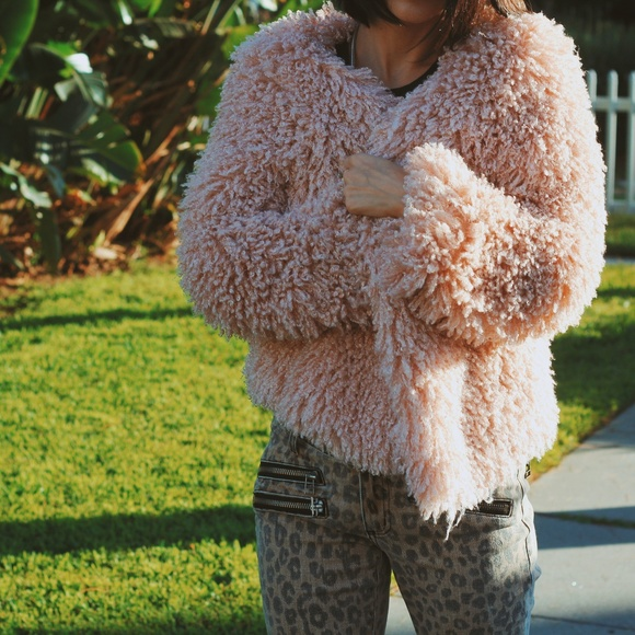 Willow & Clay Shaggy Faux Fur Jacket, $62