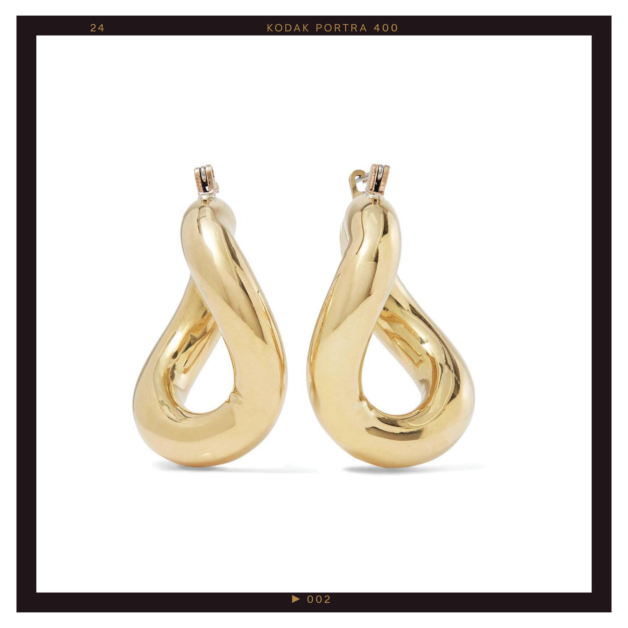 Laura Lombardi Anima Gold-Tone Hoop Earrings ($130)