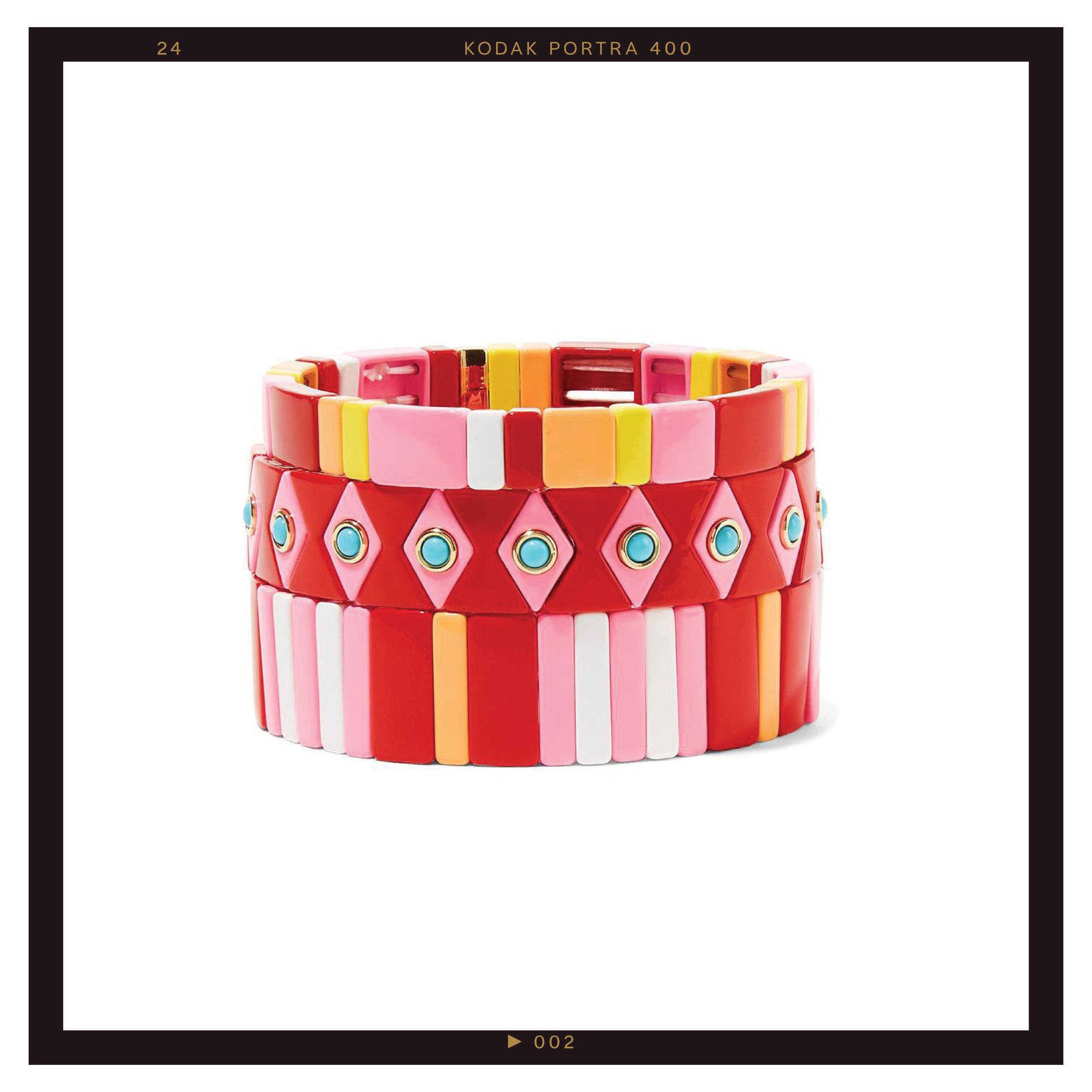 Roxanne Assoulin Hibiscus Bracelets ($290)