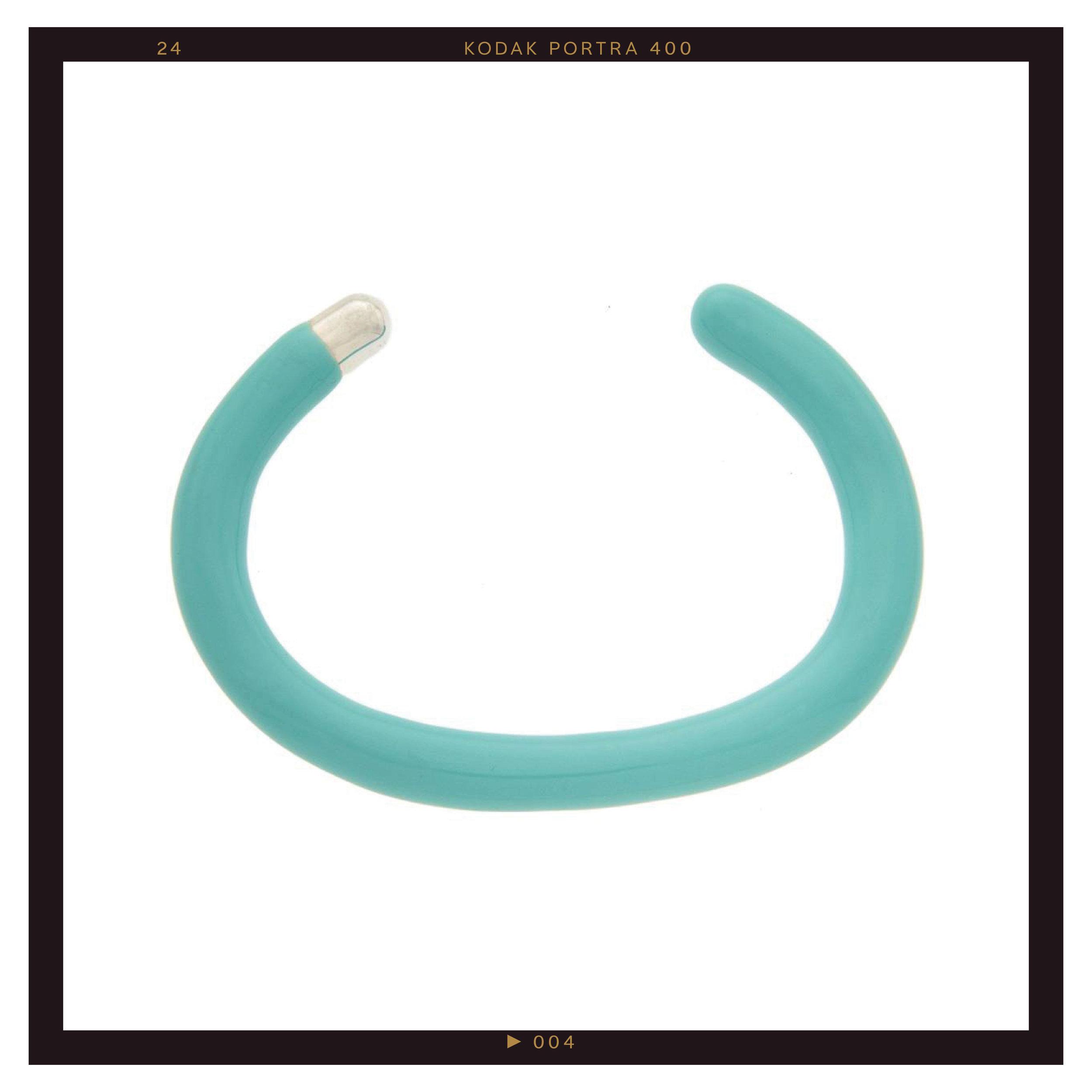 Marla Aaron Turquoise Enamel Cuffling ($625)