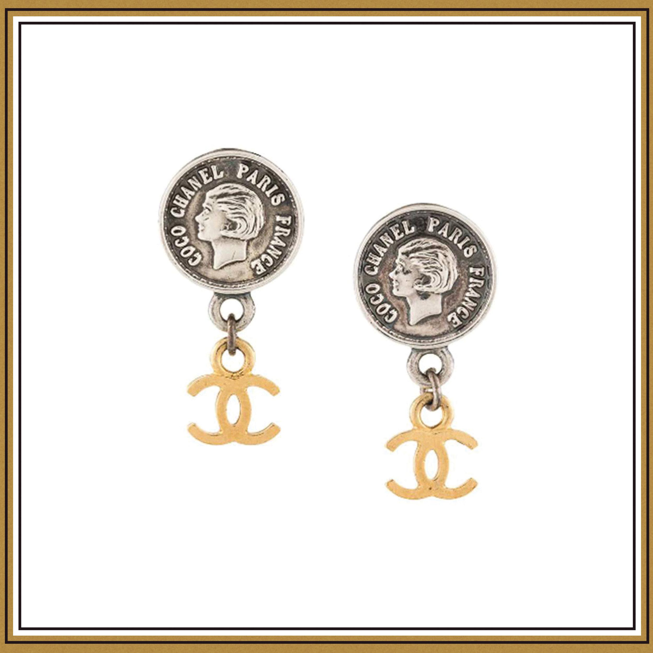 Chanel Vintage CC Earrings ($965)