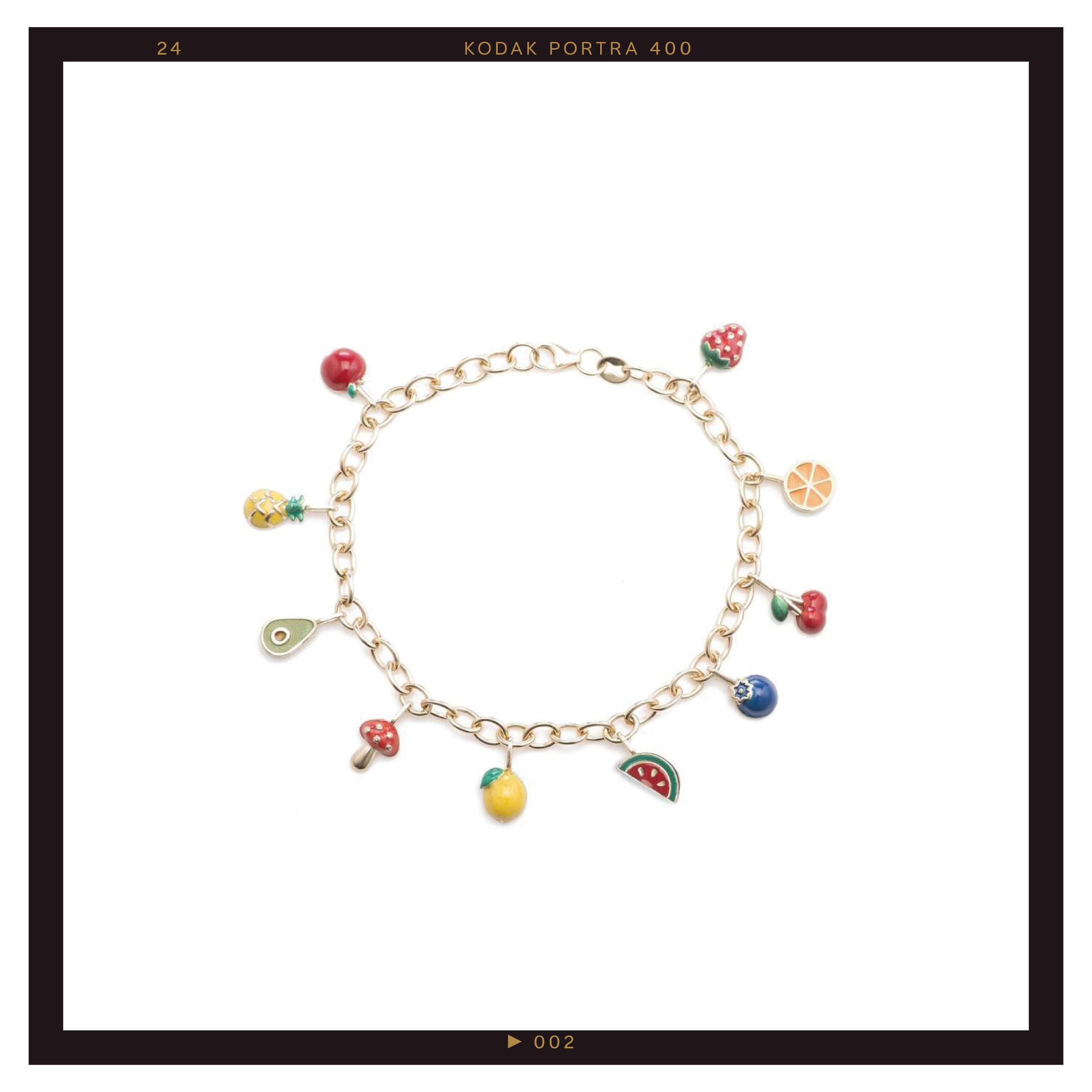 Ariel Gordon Frutta Charm Bracelet ($3500)