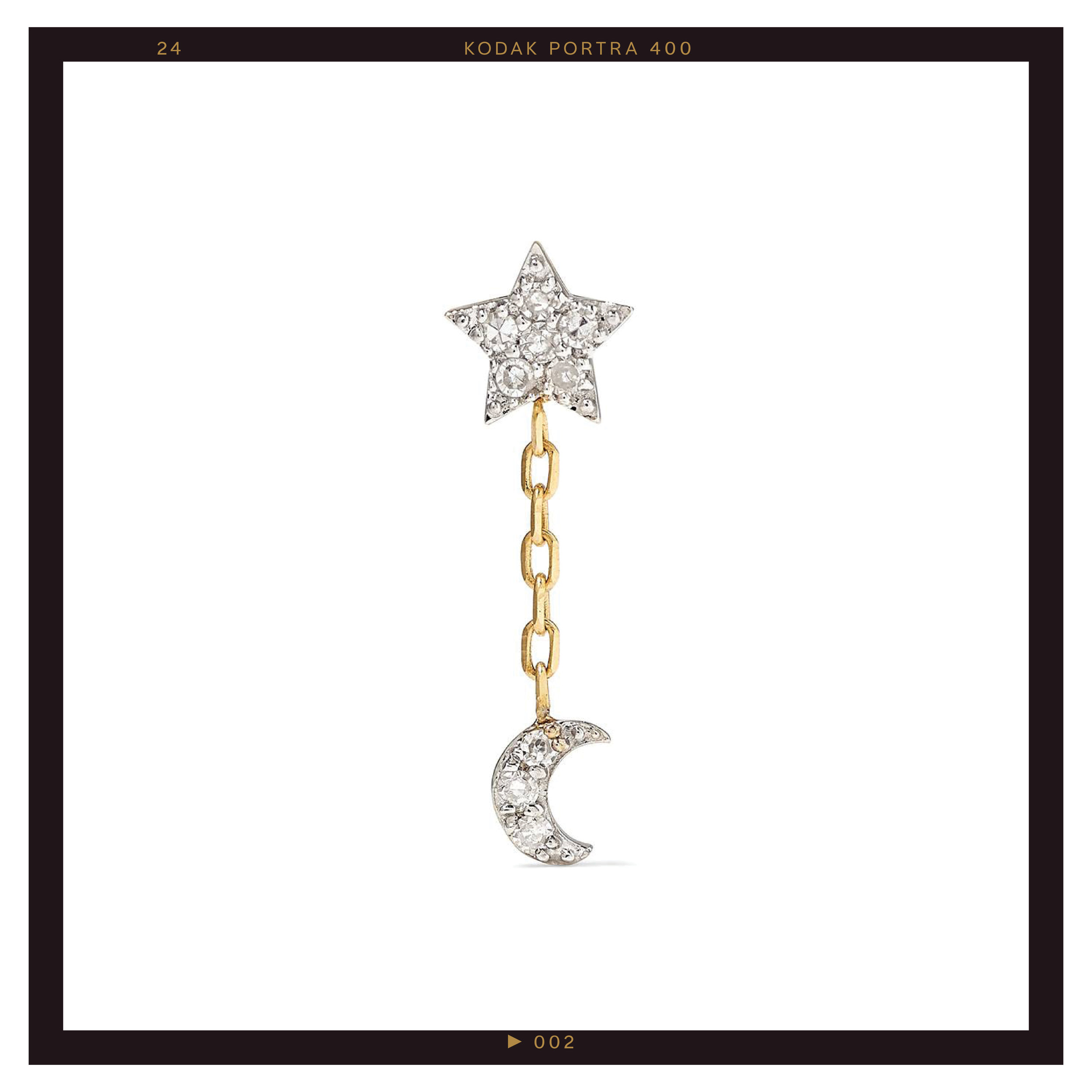 Stone and Strand Gold Diamond Earring ($170)