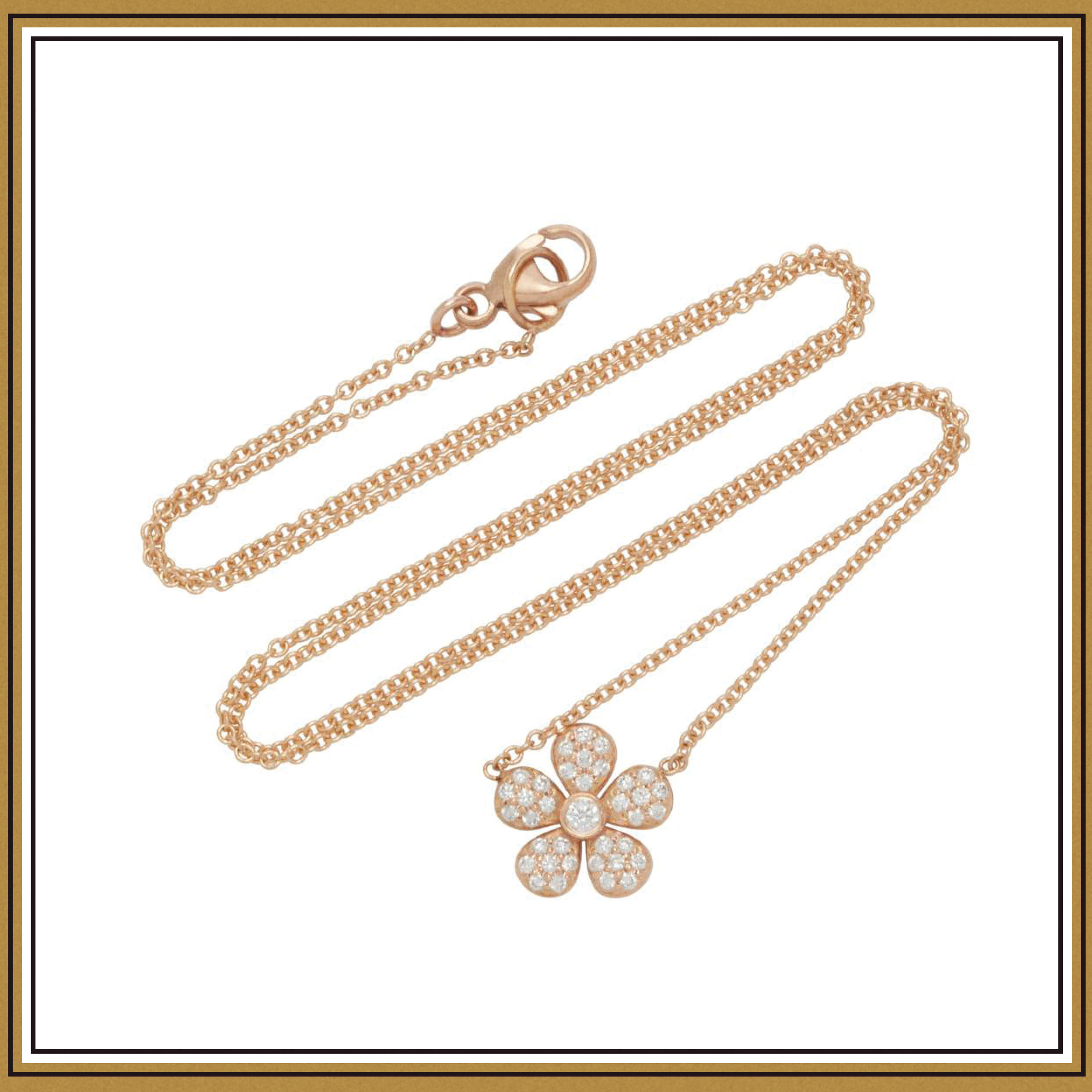 Colette Jewelry Ivy 18K Rose Gold Pendant Necklace ($1100)