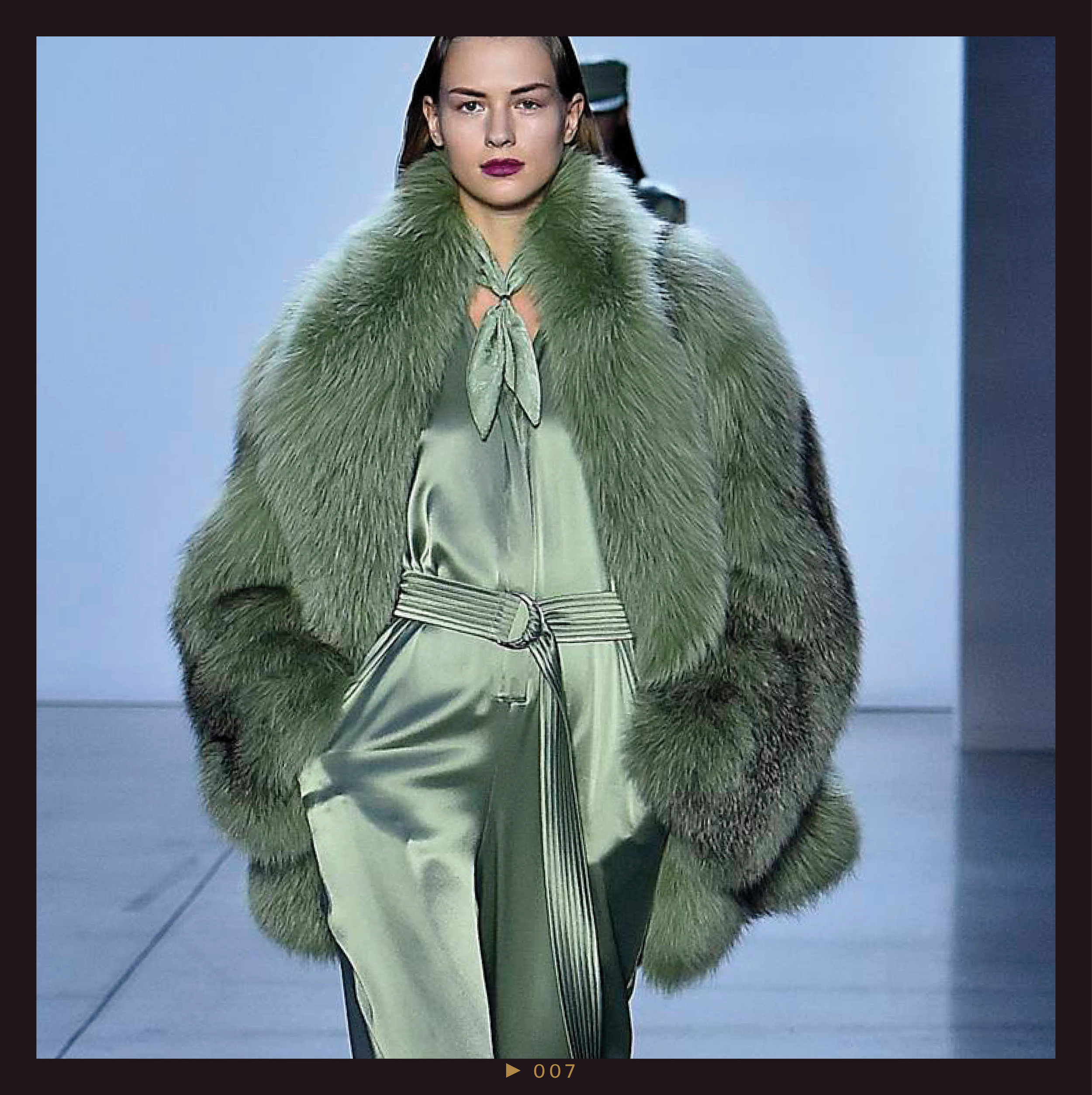 Pistachio - Call it sage green, pistachio, or mint, this verdant hue was seen on models from head-to-toe on the runways, and we've been spotting fashion girls sporting the sweet shade on the streets all season. It's the perfect shade to wear for spring, but expect to see the color dominating our feeds by fall.