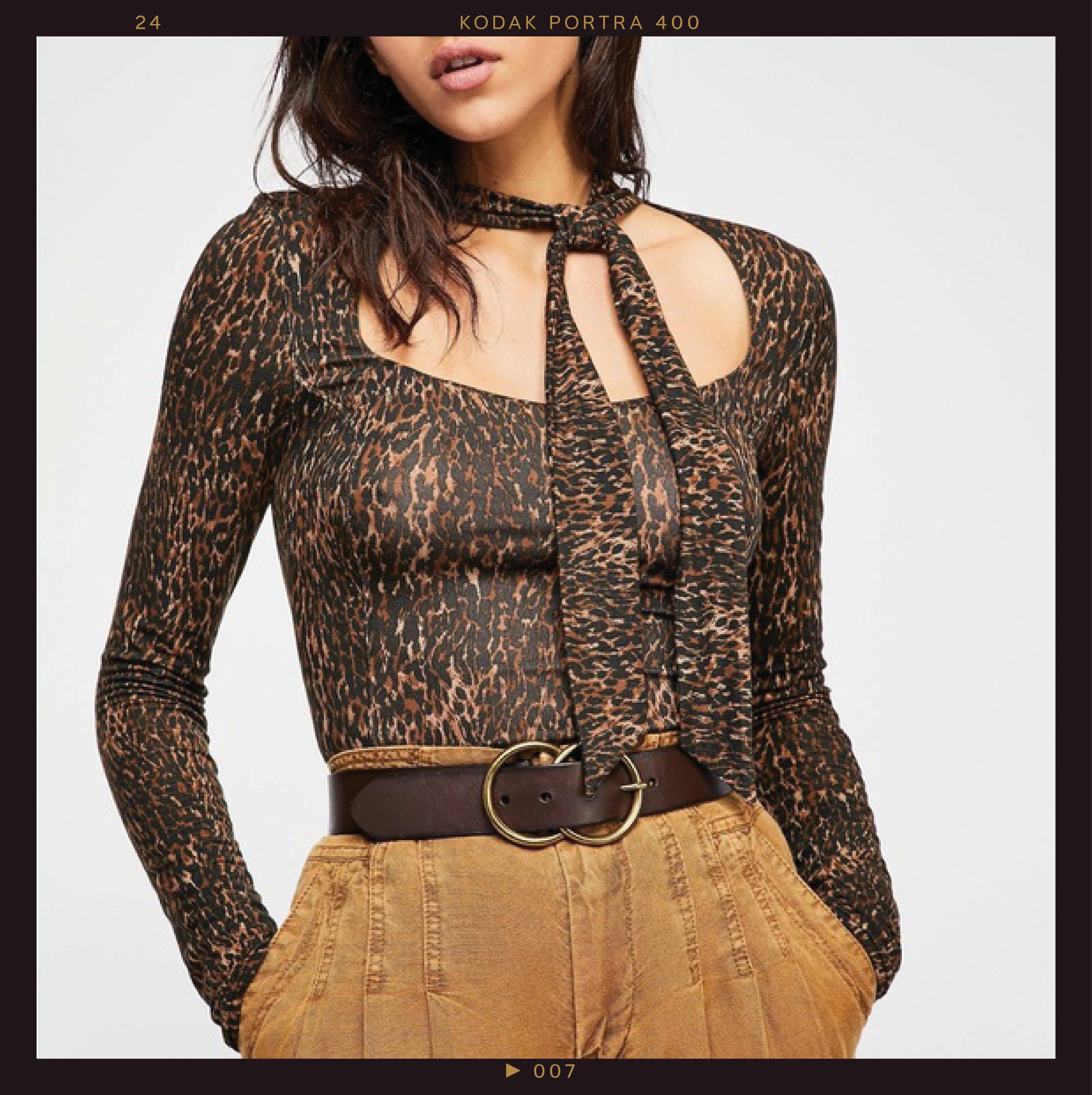 Free People Leopard Wild Thing Top, $24