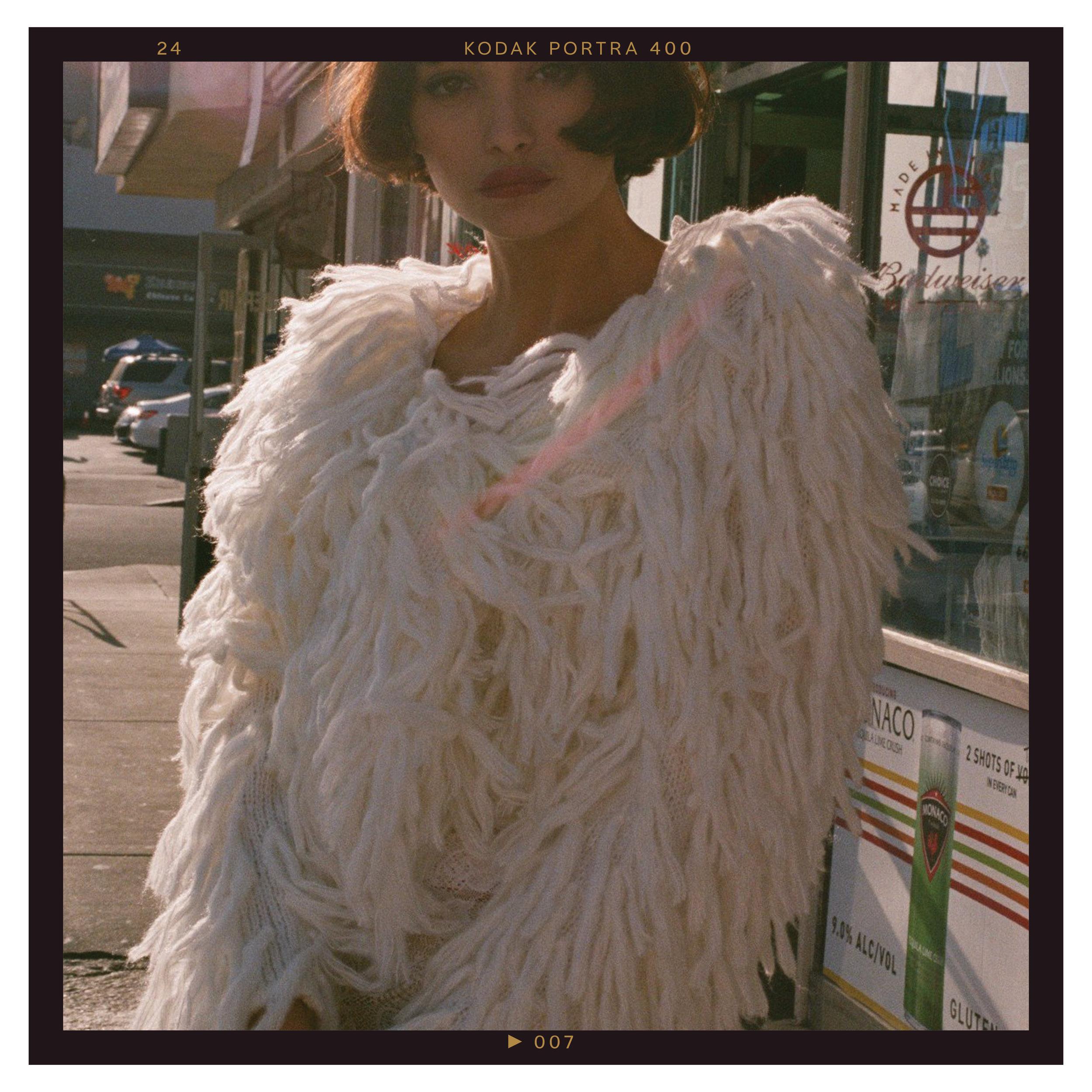 White Hot Cropped Shag Jacket, $99