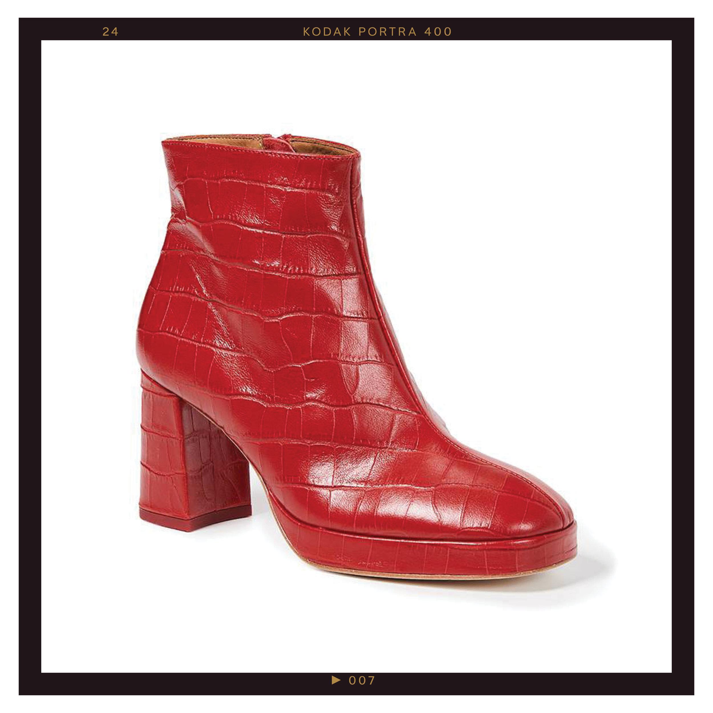 Miista Edith Platform Booties, $365