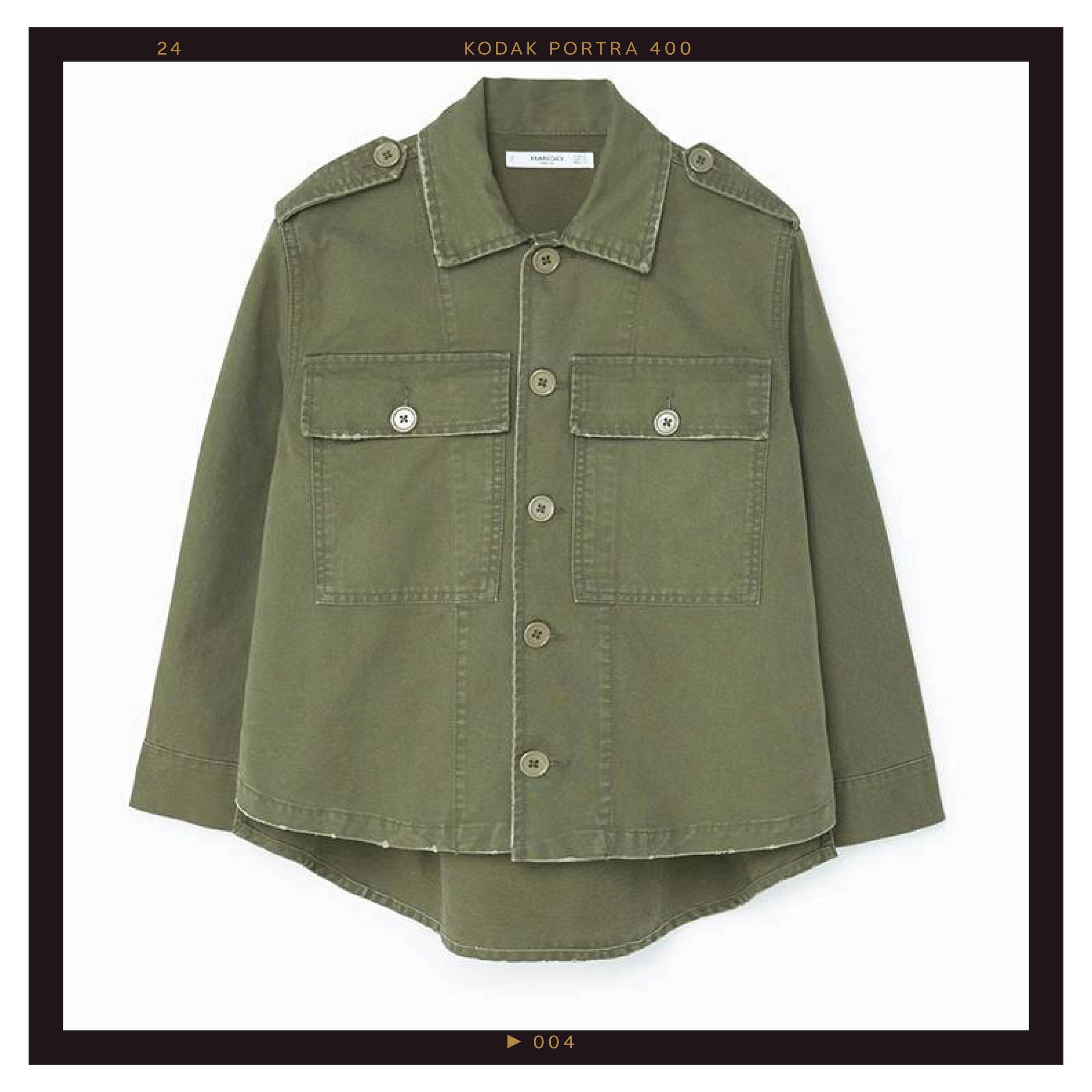 Mango Pocket Cotton Jacket, $80