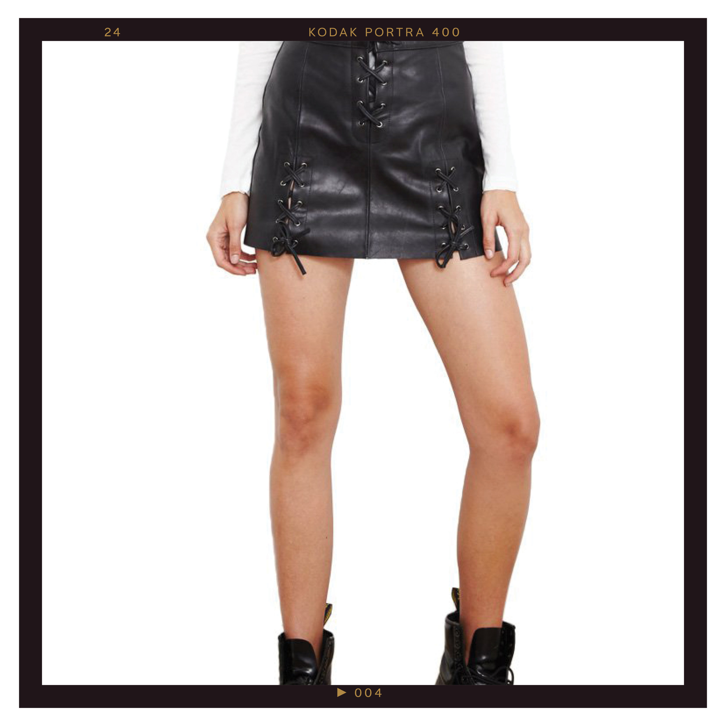 Milani Leather Skirt, $200