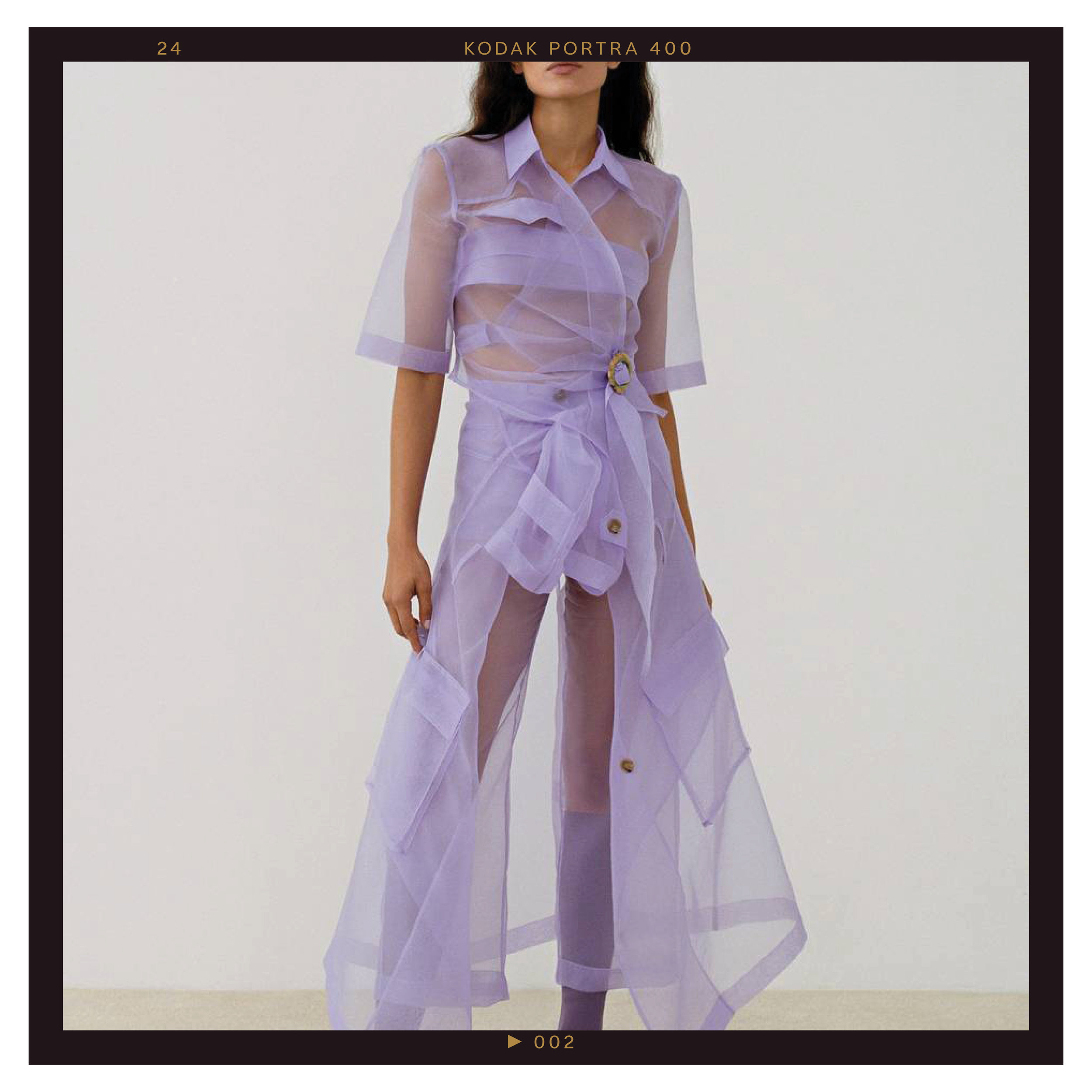 50 Shades of Purple - The standout hue on the F/W 19 runways was undoubtedly purple. Whether it was the soft tint of lavender at Nanushka, Tom Ford, and Tibi or saturated grape shades at Kate Spade, Michael Kors, and Sally LaPointe, practically every designer had a touch of purple in their collection.