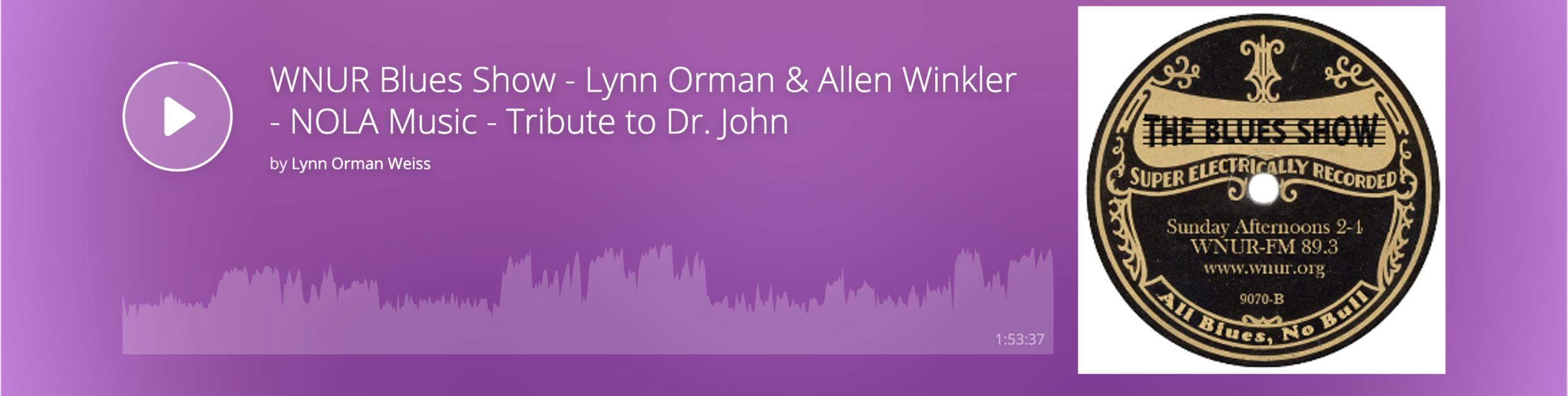 https://www.mixcloud.com/lynnormanweiss/wnur-blues-show-lynn-orman-guest-dj-allen-winkler-nola-music-and-tribute-to-dr-john/