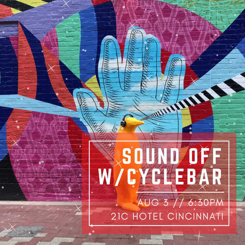 soundoff with cyclebar event