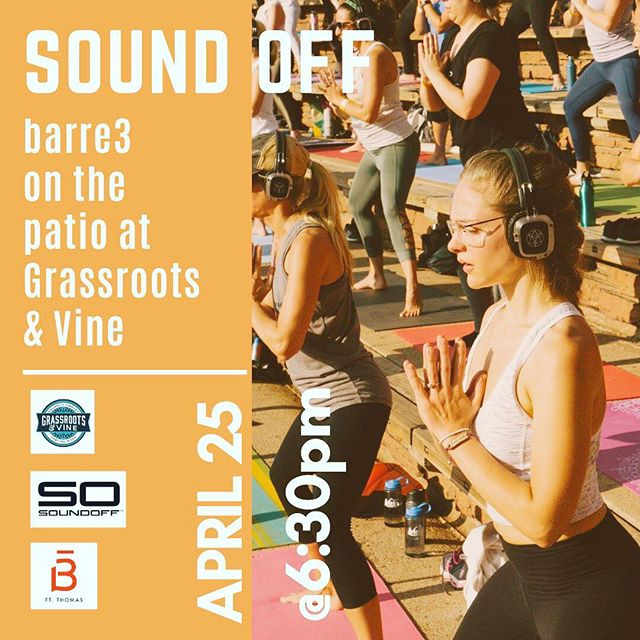Join @soundoffcincinnati @barre3ftthomas at @grassrootsandvine for an amazing event that includes your delicious meal after you burn at the barre!