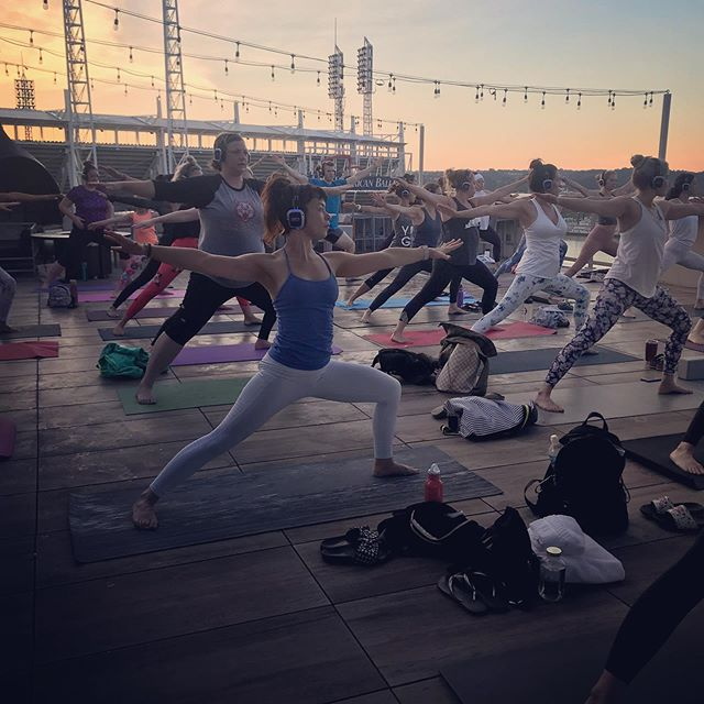 Are you ready for those sunrise views?  Join us next week! Wednesday, July 24 @ 6am for Sound Off Yoga 😎