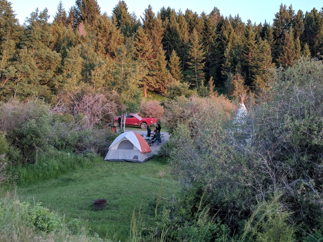 One of our private tent sites