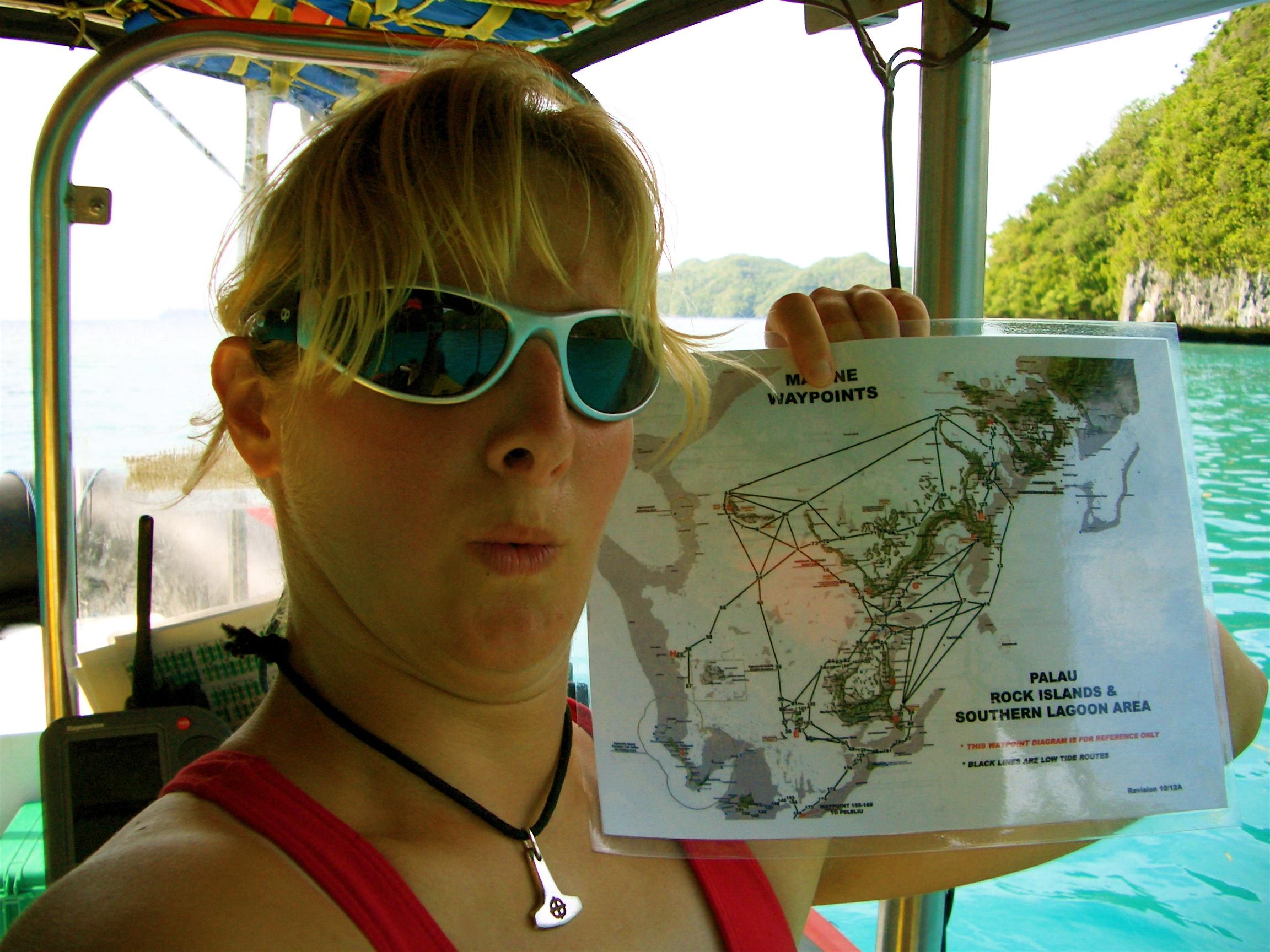 Boat Captain in Palau 2004