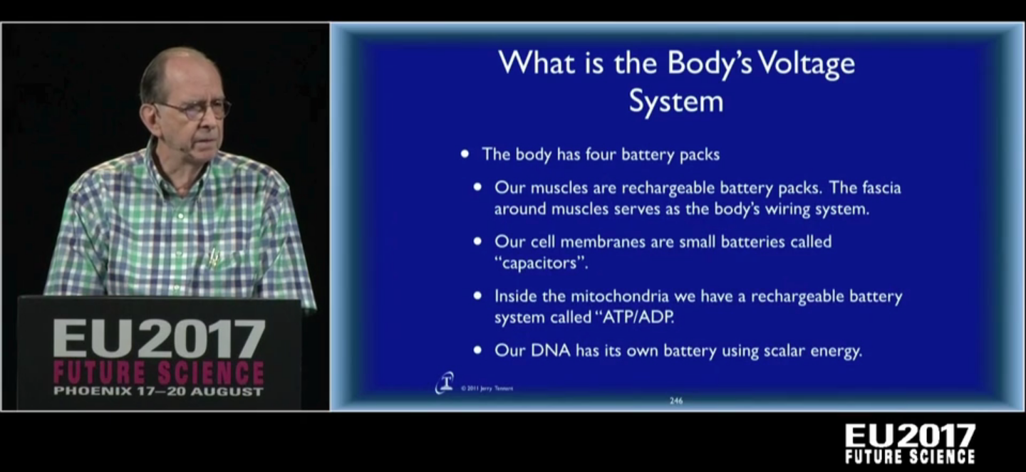 Dr. Tennant  at EU2017 Conference explaining electrical components of the human body, and how the system ties together.