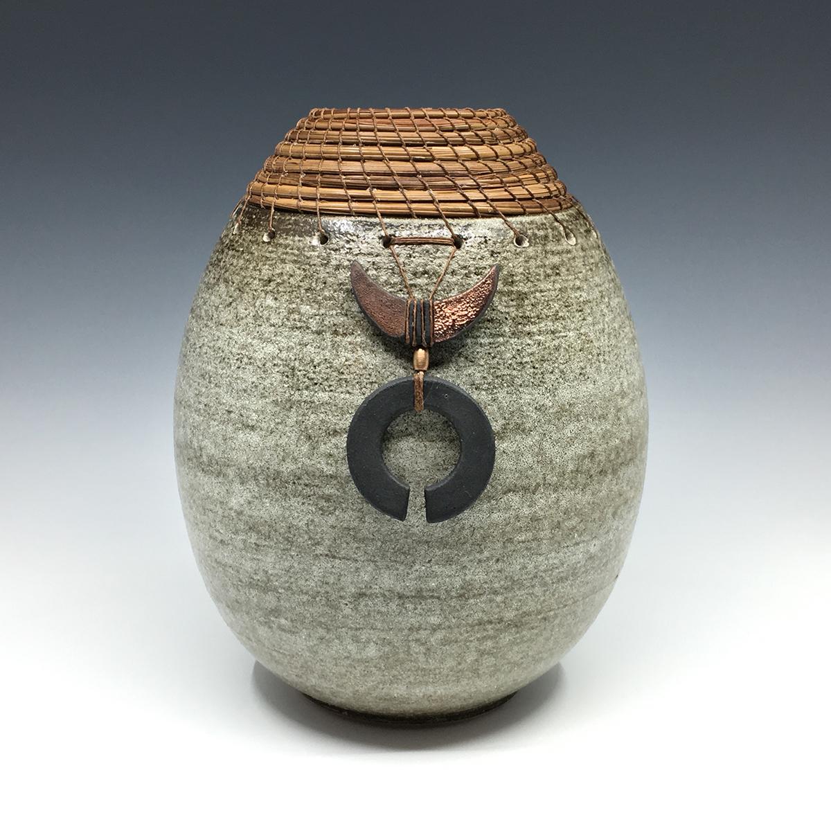 Rustic Egg with Raku doodads