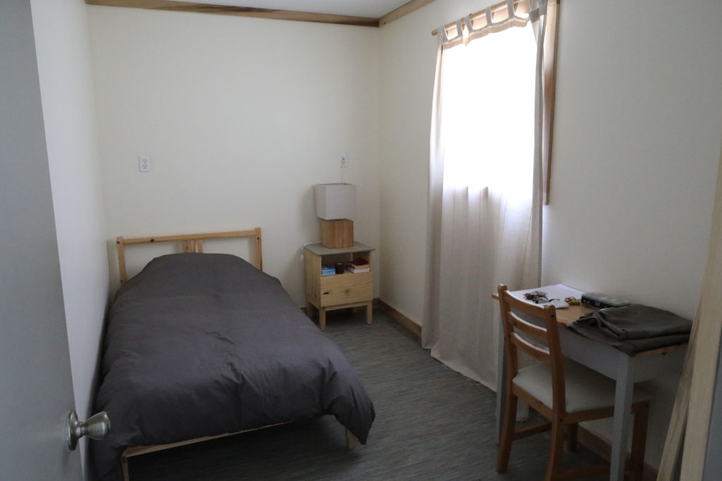 Twin bed, private room - A private space with a window.Several rooms like this in the yoga hall building.Shared bathroom.