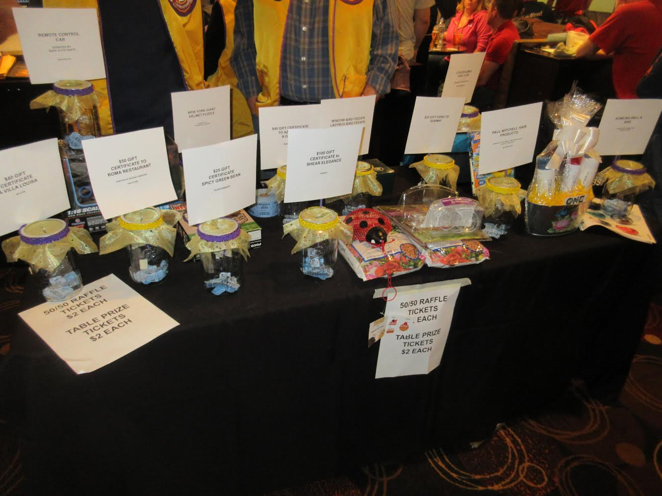 Every year we have tables full of prizes you can win-only $2 a ticket!
