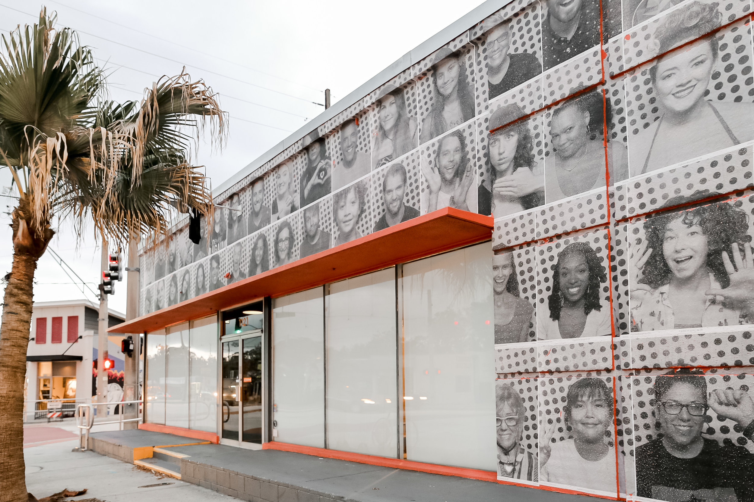 ORANGE STUDIO, DISPLAYING PORTRAITS TAKEN BY THE INSIDE OUT PROJECT.