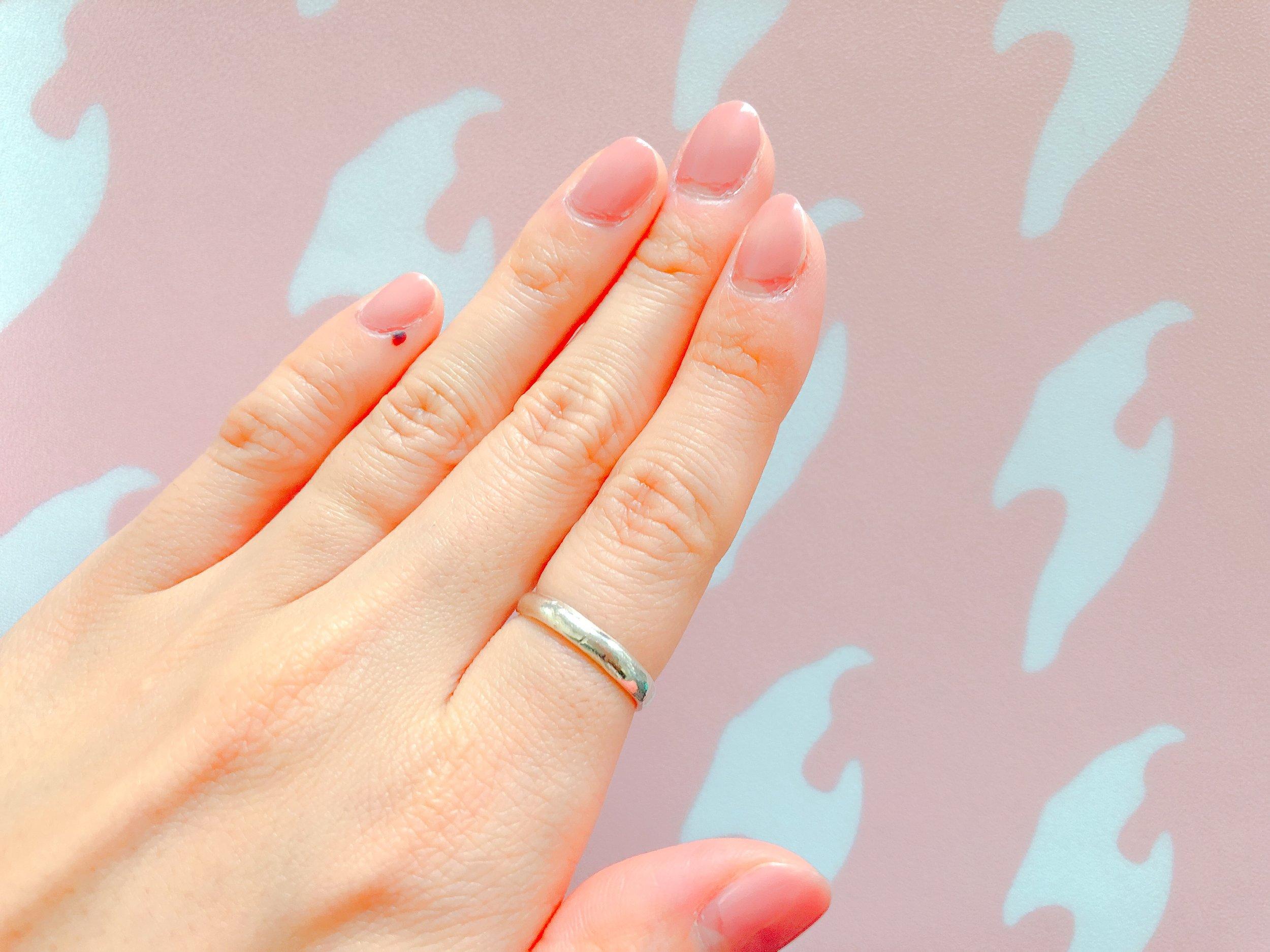 銀粘土で作ったリング