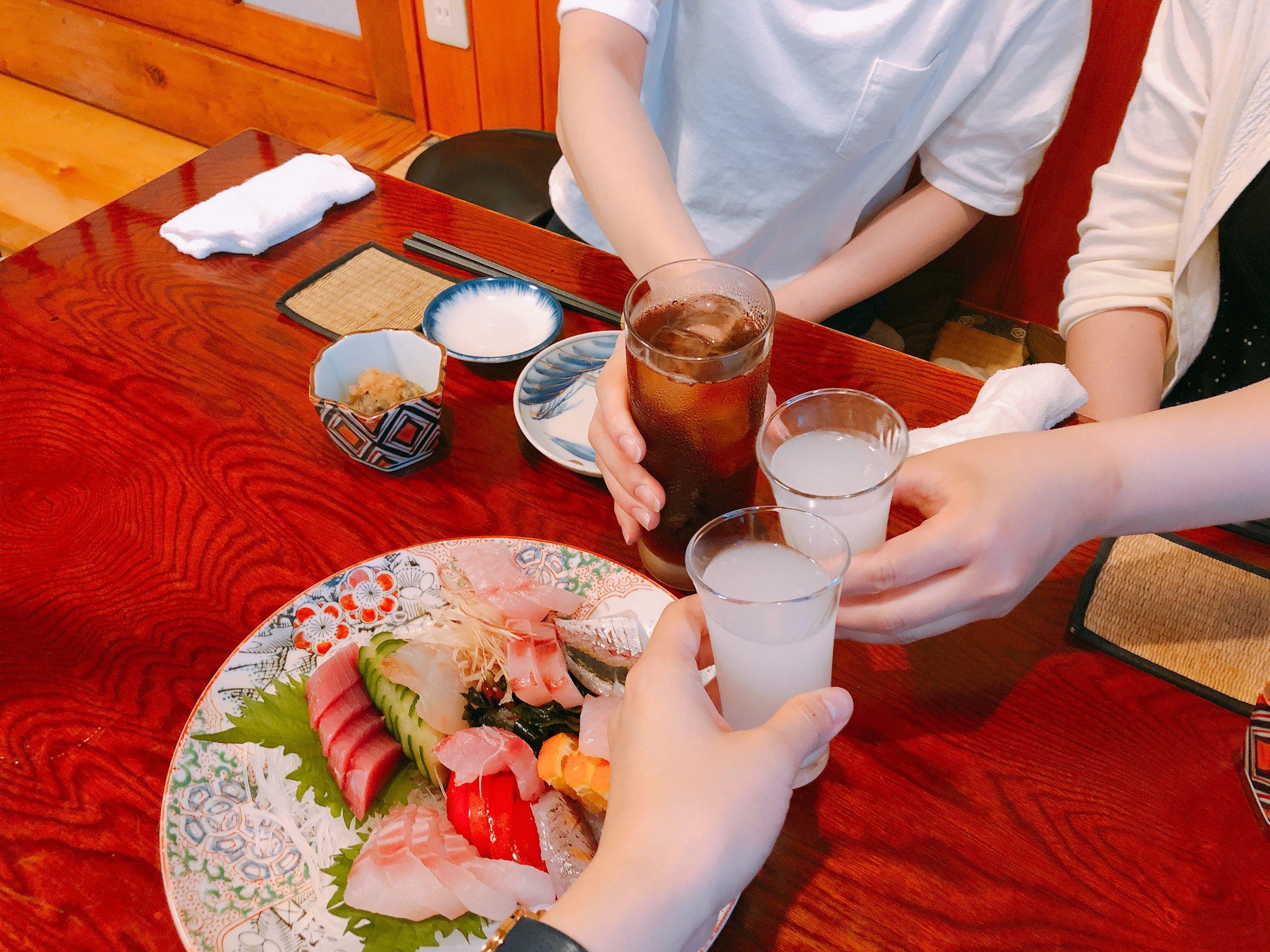佐渡産のお造りとこだわりの日本酒