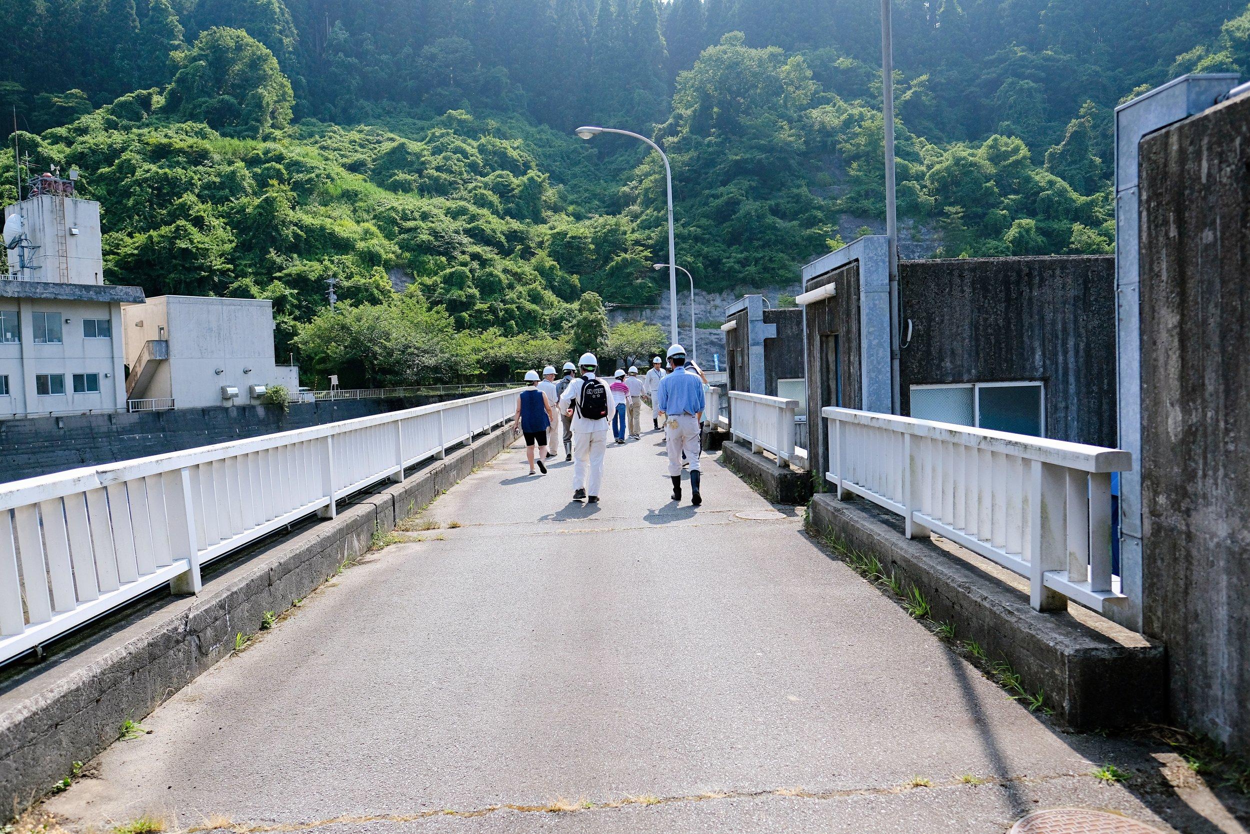 大野川ダム天端(てんば)