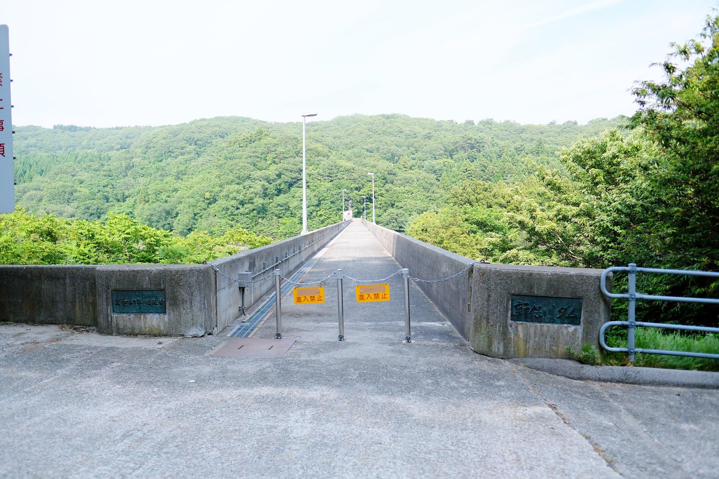 新保川ダム天端
