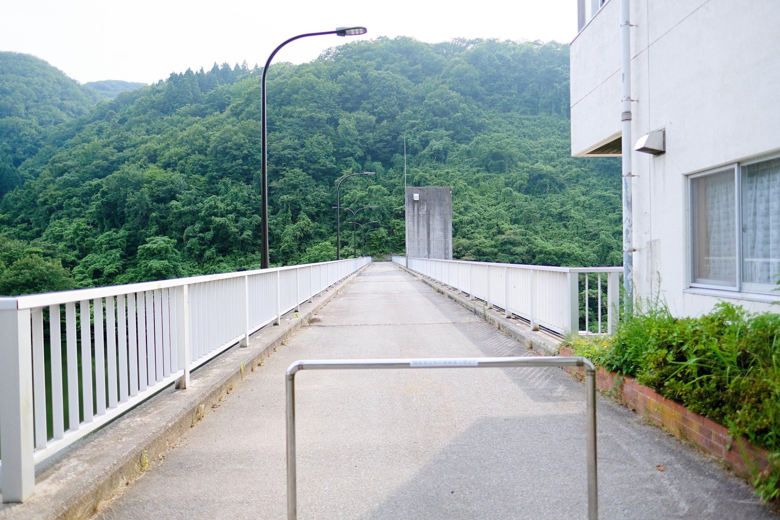 久知川ダム天端