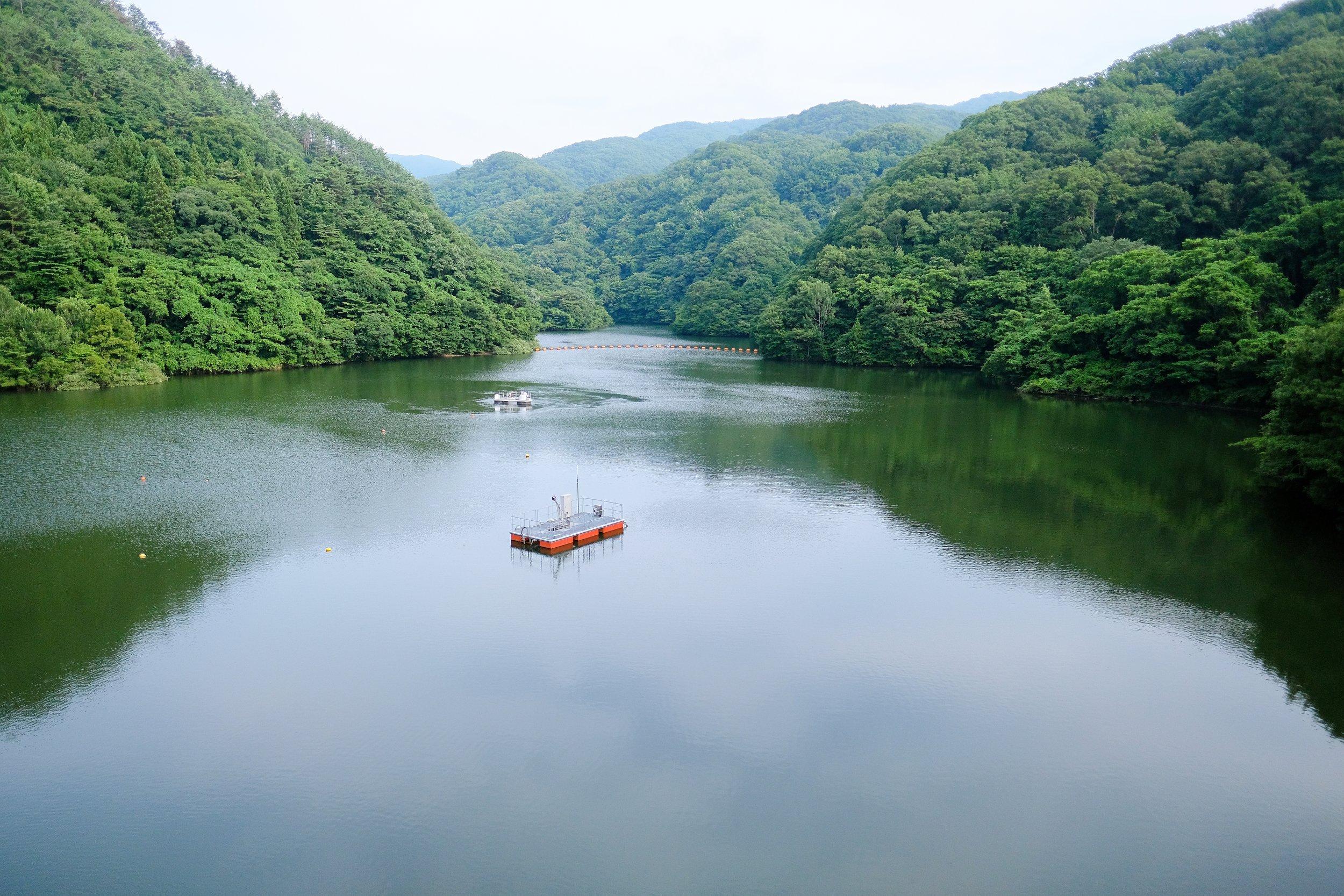 久知川ダム天端からの眺め