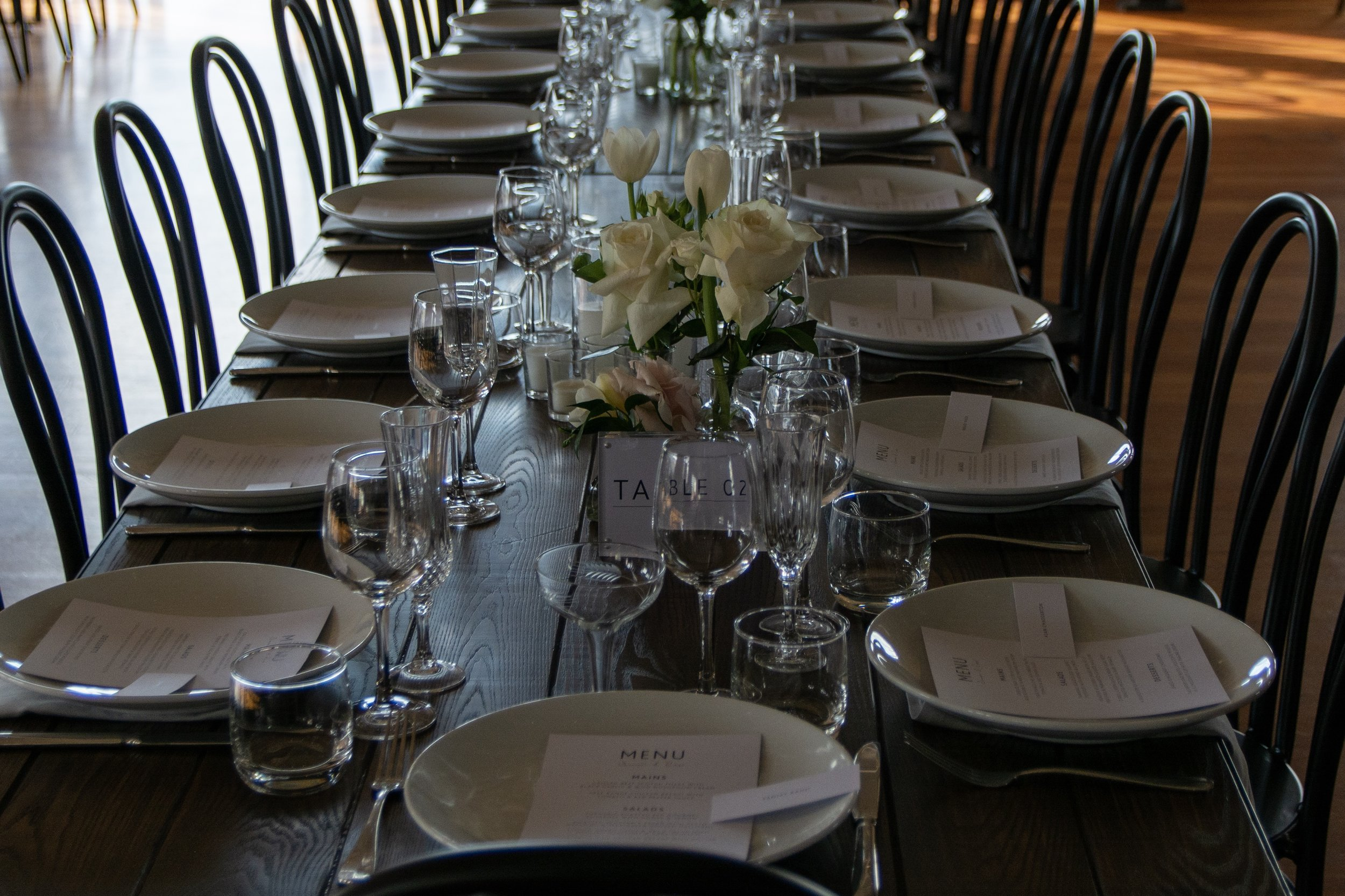 Boatshed wedding table