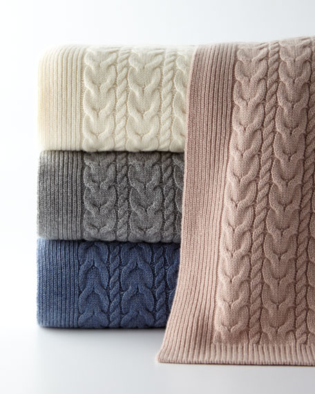 Sofia Cashmere Blankets from Horchow