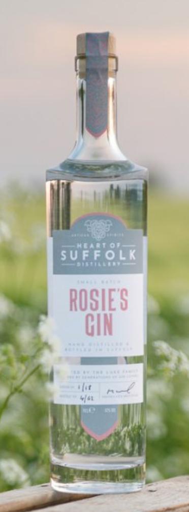 Rosie's Gin from Heart of Suffolk Distillery