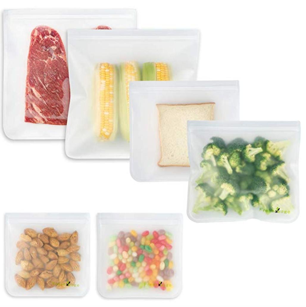 Reusable BPA-Free Food Storage Bags