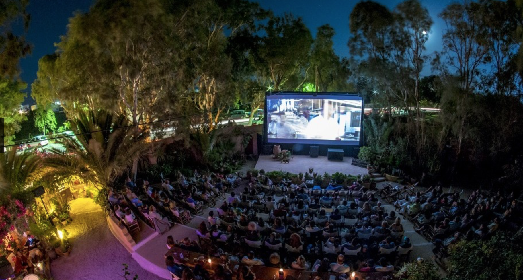 Santorini's Open Air Cinema