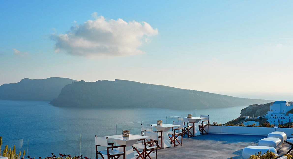 Open Air Dining at Canaves Oia - Santorini