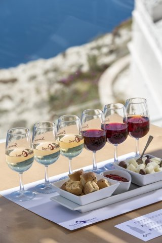 Wine Flight Tasting at Santo Wines - Santorini