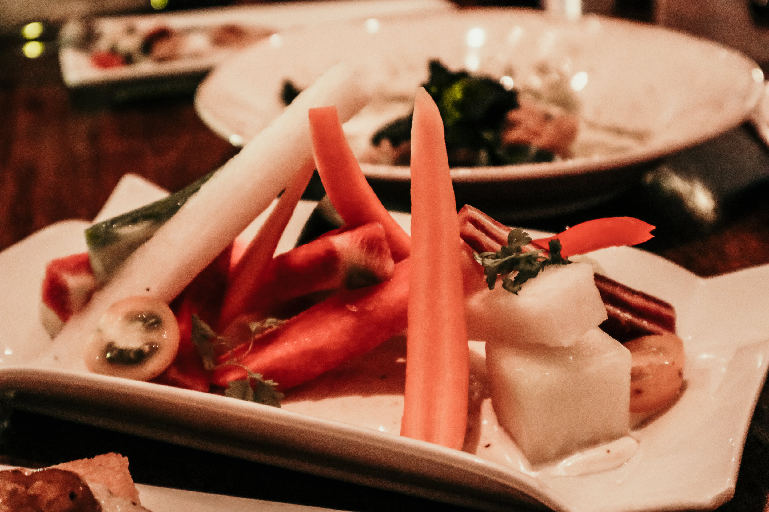 Garden Crudités with Fennel Aioli at Vedge Restaurant in Philadelphia - photo by Ash Burns